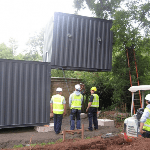 Biomass boiler installation at St Peter's Church, Peterchurch