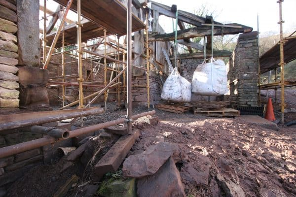 Structural work on a barn conversion