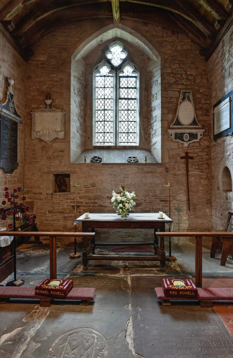 alter at st Michael and all angels, untouched by the church re-ordering.