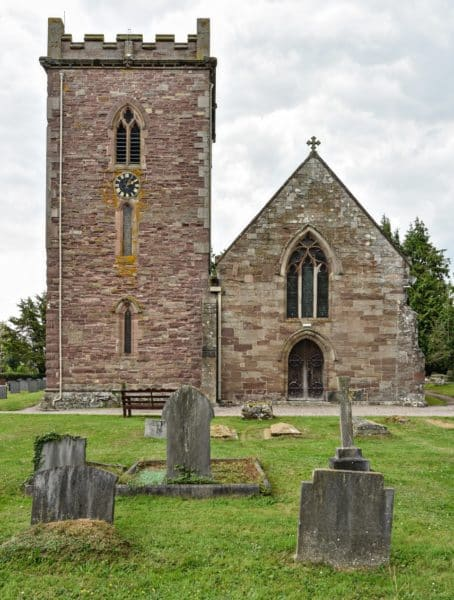 Exterior of St Micheal's and all angels, a church re-ordering but with no changes made to the outside.