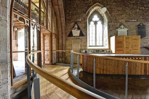 Ramp and kitchenette, interior St Michael and all angels church re-ordering.