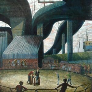 Christ sentenced by Mark Cazalet. Stableway W10: the horse ring under the A40 intersection