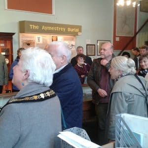 Listening to speeches at the launch. Photograph courtesy of Leominster Museum